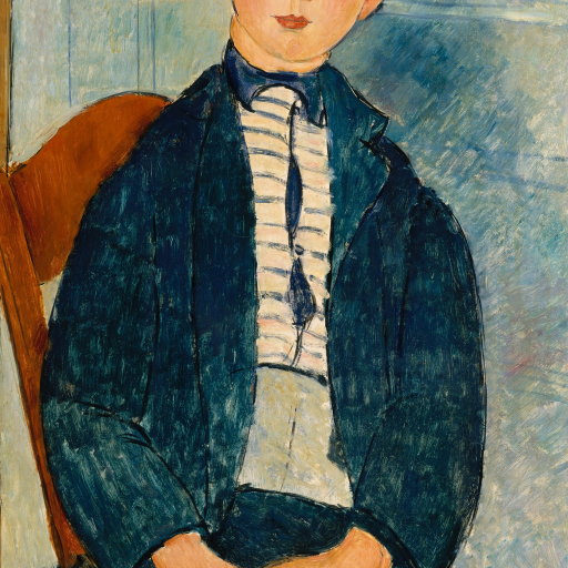 Boy in a Striped Sweater by Amedeo Modigliani