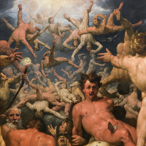 The Fall of The Titans by Cornelis Cornelisz. van Haarlem