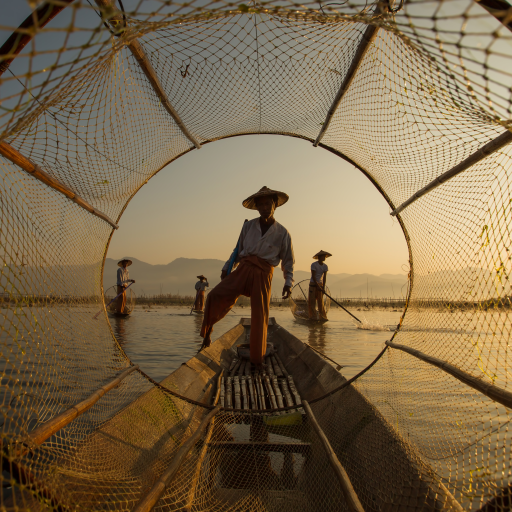 Inle Fisherman by Gunarto Song