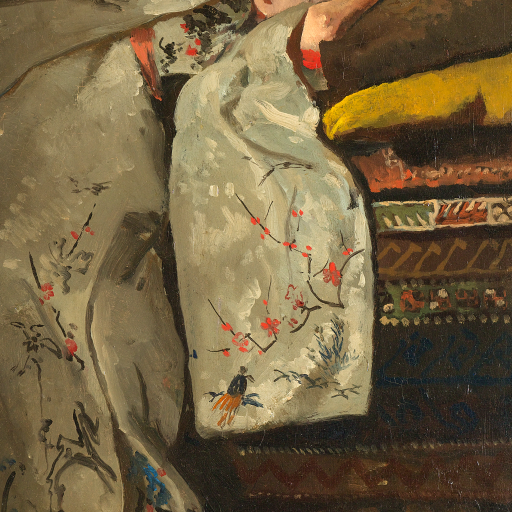 Girl in White Kimono by George Hendrik Breitner