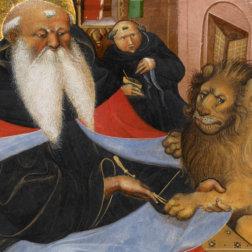 Saint Jerome Extracting a Thorn from a Lion's Paw by undefined