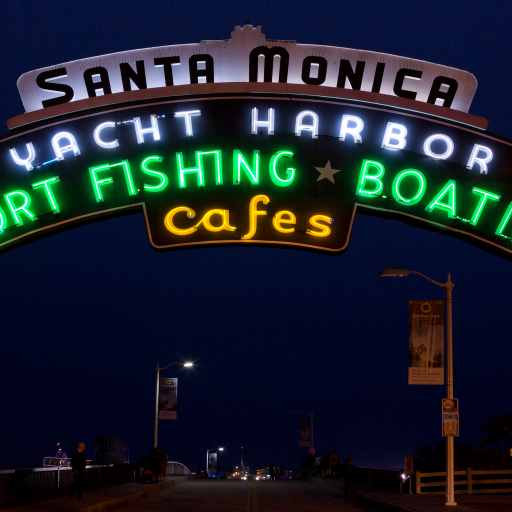 Santa Monica Pier by Carol M. Highsmith