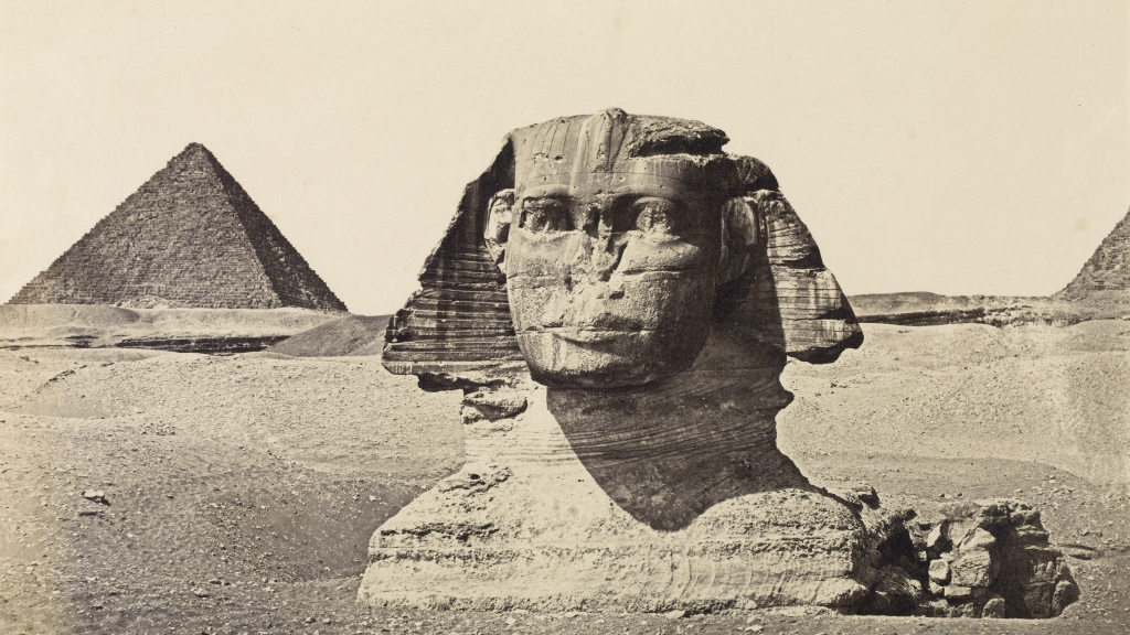 The Sphinx and The Third Pyramid of Geezah, Egypt by Wilhelm Hammerschmidt