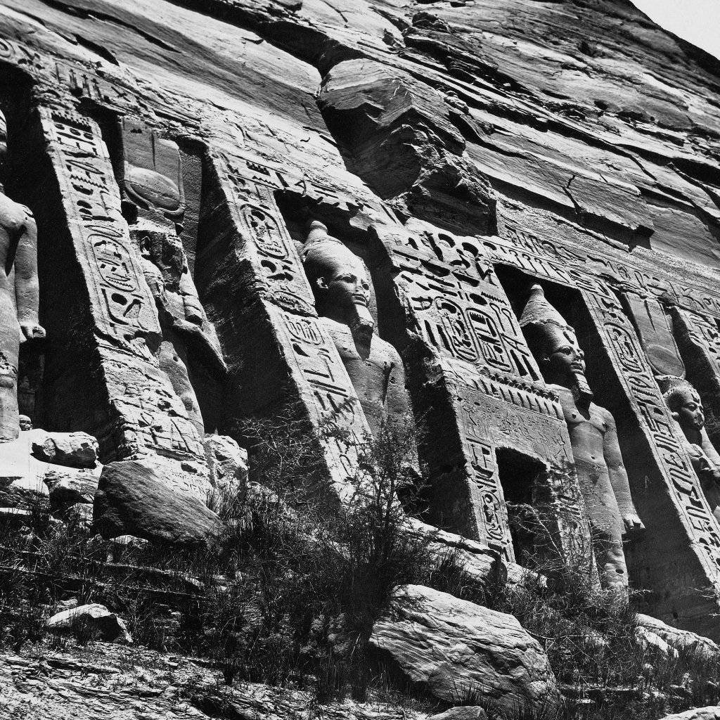 Nubia - The Small Temple at Abu Simbel by Antonio Beato