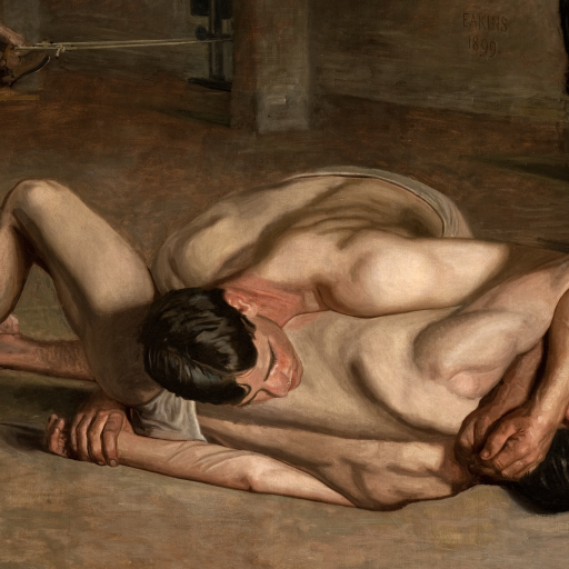 Wrestlers by Thomas Eakins