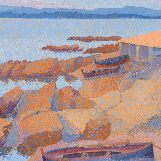 Coast Near Antibes by Henri-Edmond Cross