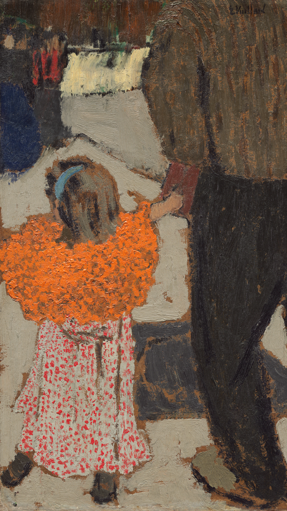 Child Wearing a Red Scarf by Edouard Vuillard