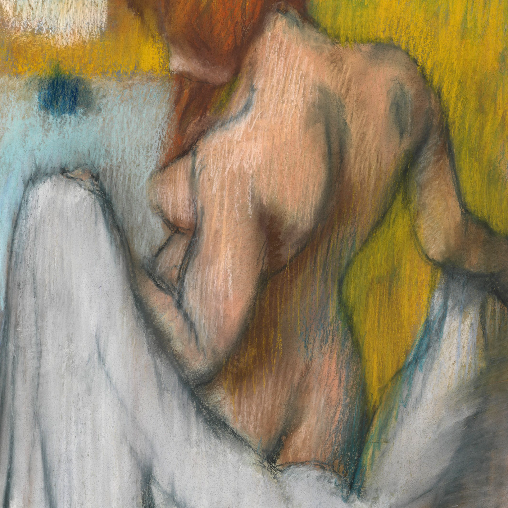 Woman with a Towel by Edgar Degas