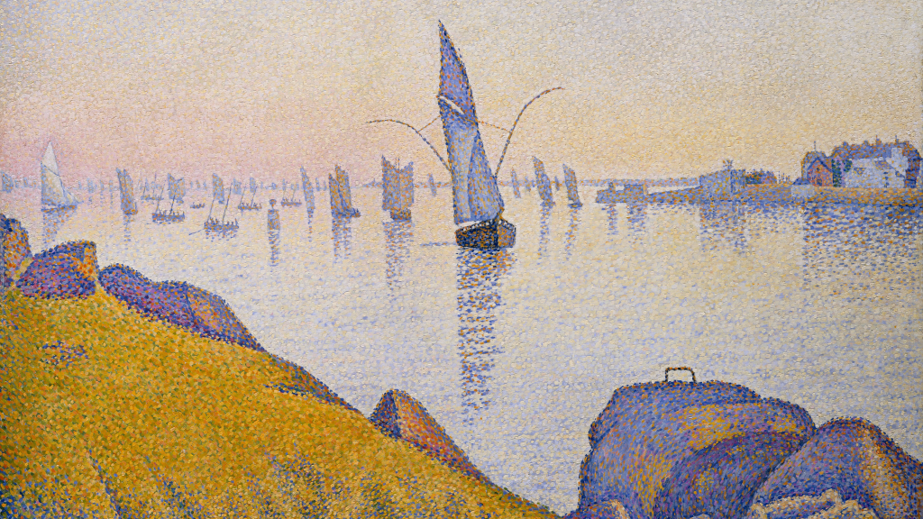 Evening Calm, Concarneau, Opus 220 (Allegro Maestoso) by Paul Signac