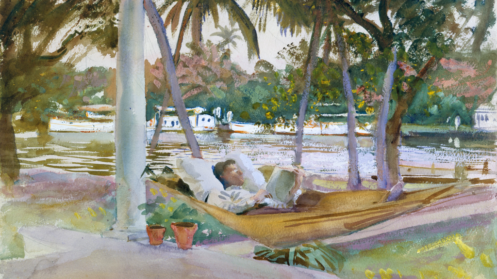 Figure in Hammock, Florida by John Singer Sargent