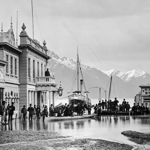 Ballarat Street, Queenstown, NZ by William H. Hart