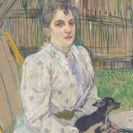 Lady With a Dog by Henri  de Toulouse-Lautrec