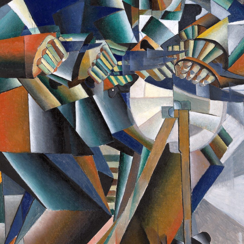 The Knife Grinder or Principle of Glittering by Kazimir Malevich