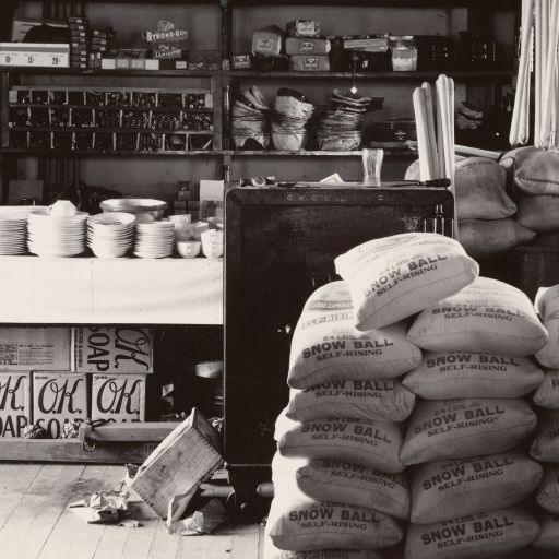General store interior. Moundville, Alabama by Walker Evans