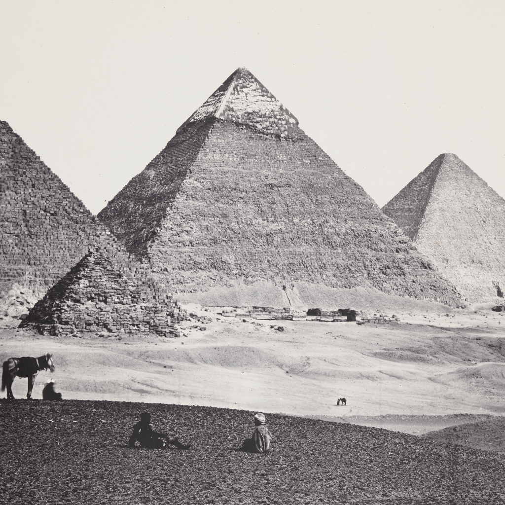 Pyramids Of El-Geezeh (from the Southwest) by Francis Frith