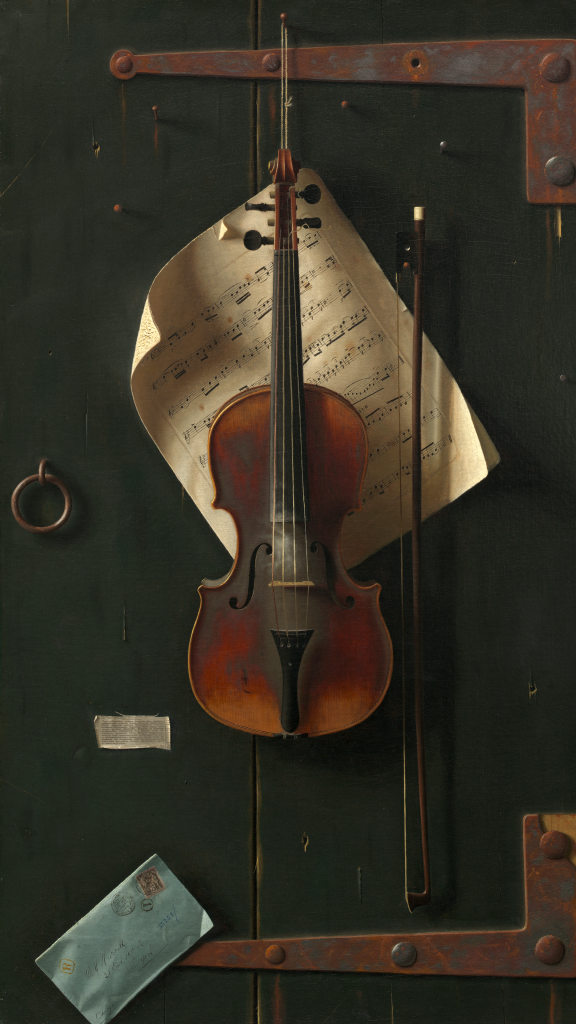 The Old Violin by William Harnett