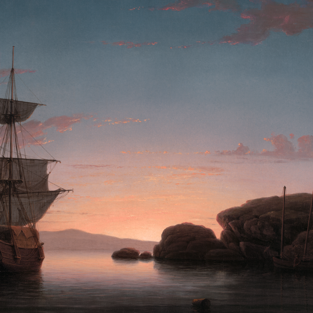 Lighthouse at Camden by Fitz Henry Lane