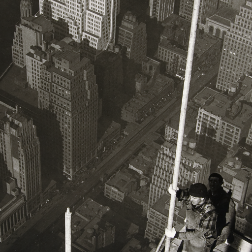 Raising the Mast, Empire State Building by Lewis Hine