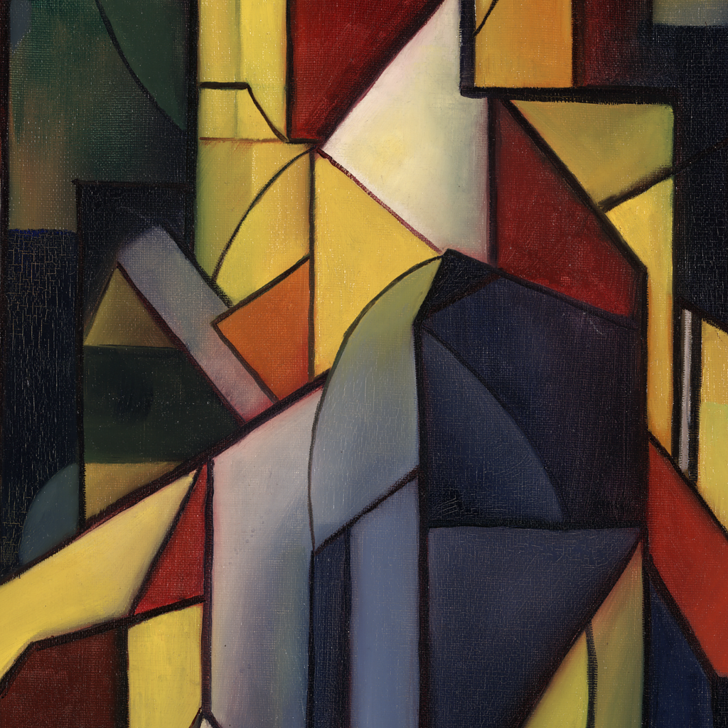 Growth of the Circle (formerly, Composition II) by Georg Muche