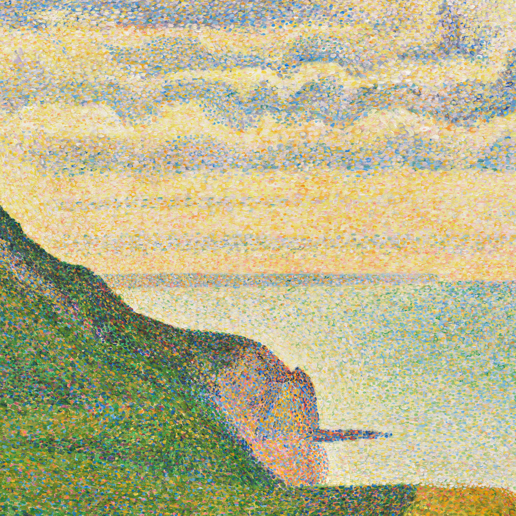 Seascape at Port-en-Bessin, Normandy by Georges Seurat