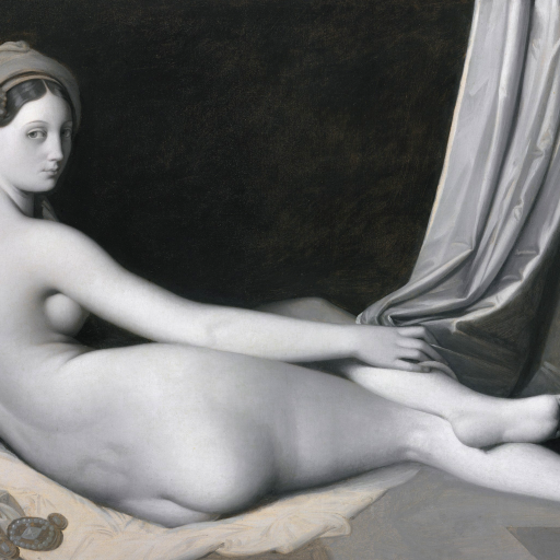Odalisque in Grisaille by Jean-Auguste-Dominique Ingres