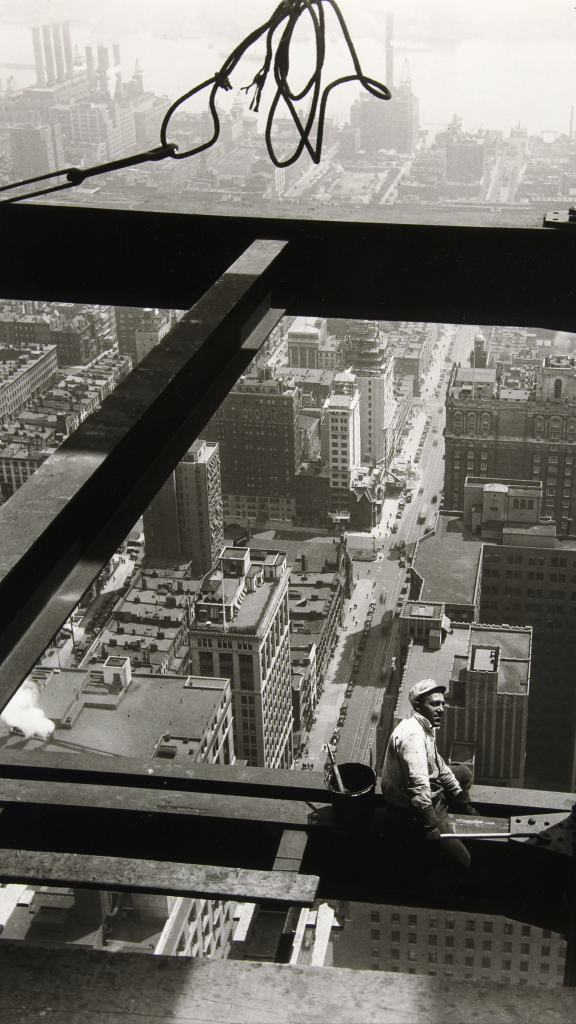 Sitting on Beam, Empire State Building by Lewis Hine