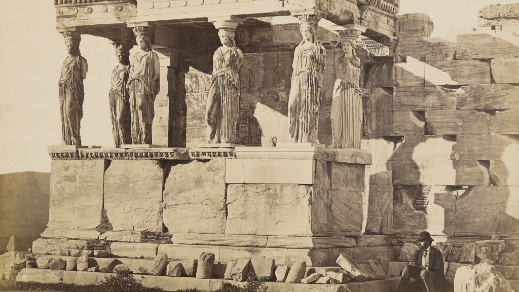 The Caryatid Porch of the Erechtheion, Athens by Dimitrios Constantin