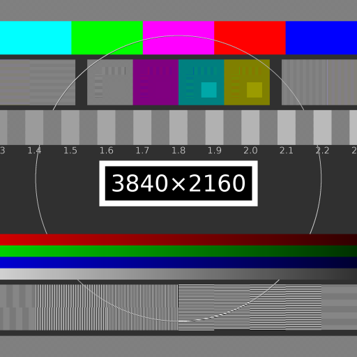 UHD Test Pattern II by undefined