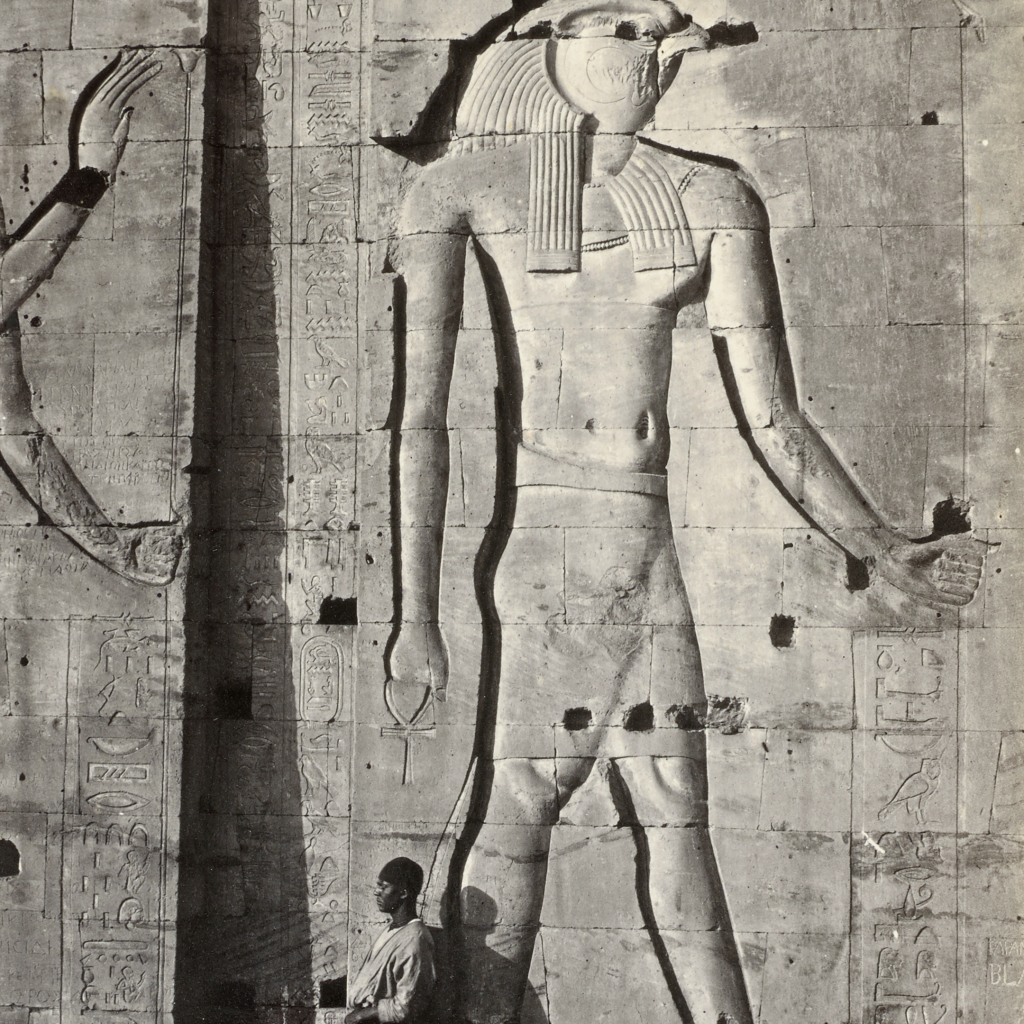 Sculptures of Egyptian Idols at Philæ by Francis Frith