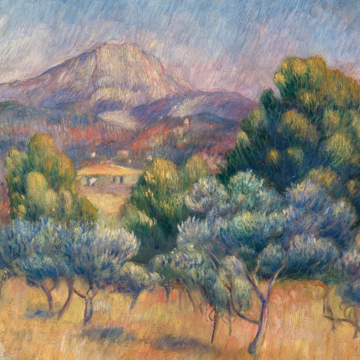 Mount of Sainte-Victoire by Pierre-Auguste Renoir