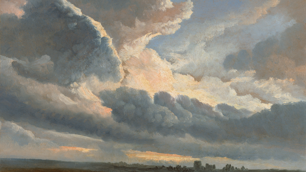 Study of Clouds with a Sunset near Rome by Simon Alexandre Clément Denis