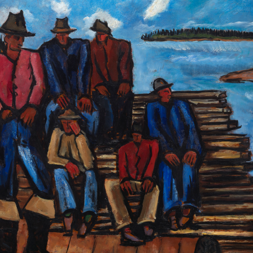 Lobster Fishermen by Marsden Hartley