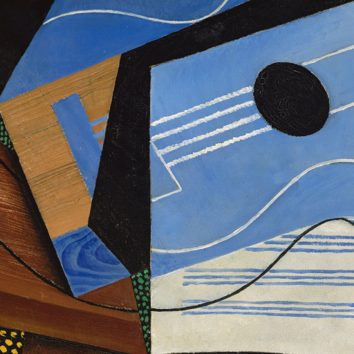 Guitar on a Table (Guitare sur une table) by Juan Gris