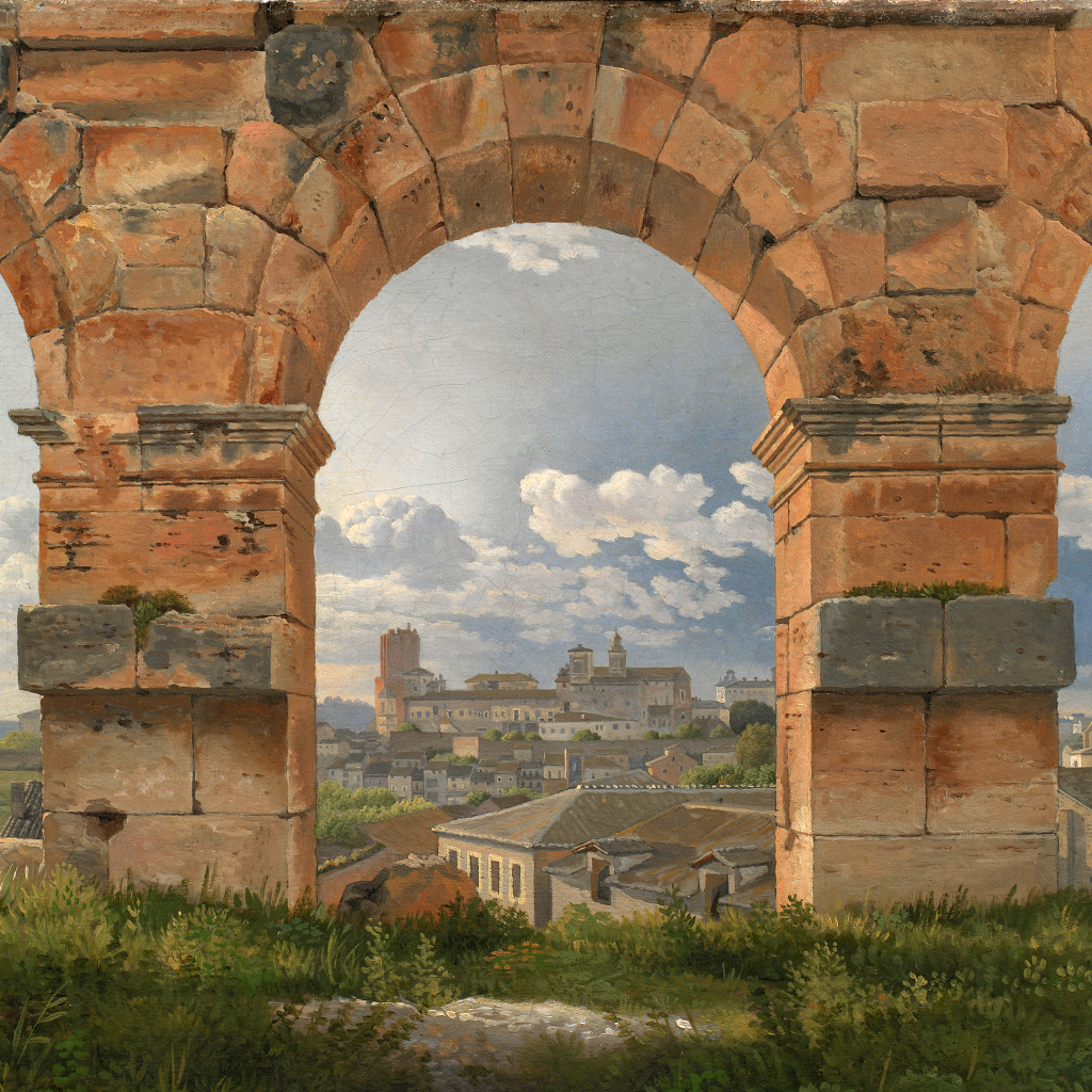 A View through Three Arches of the Third Story of the Colosseum by C.W. Eckersberg