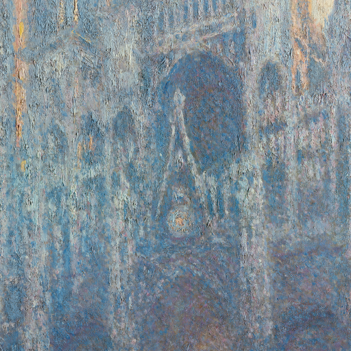 The Portal of Rouen Cathedral in Morning Light by undefined