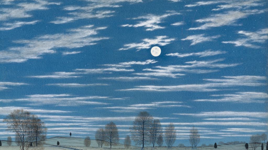 Winter Scene in Moonlight by Henry  Farrer