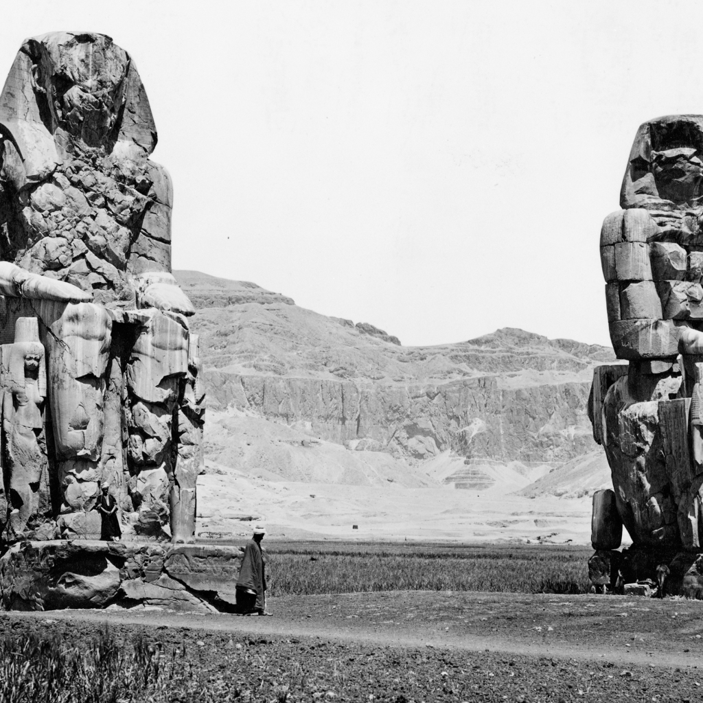 Colossi of Memnon by Pascal Sébah