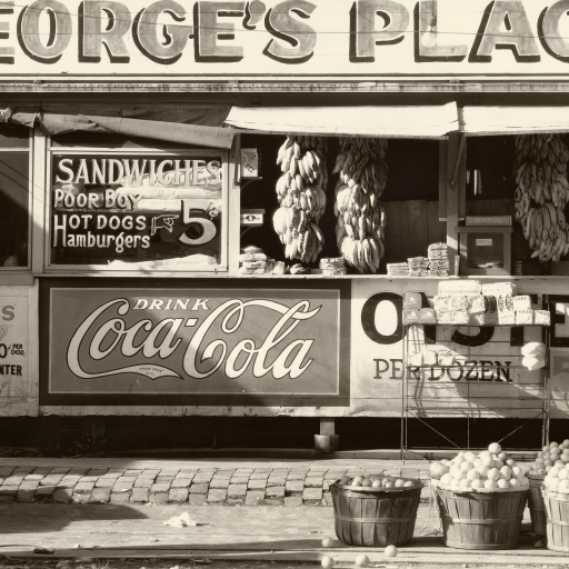 Roadside fruit. Ponchatoula, Louisiana by Walker Evans
