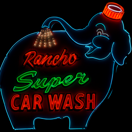 Rancho Super Car Wash by Carol M. Highsmith