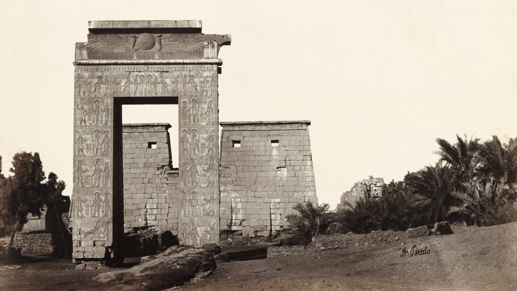 Karnak: Gate of Khonsu by Antonio Beato