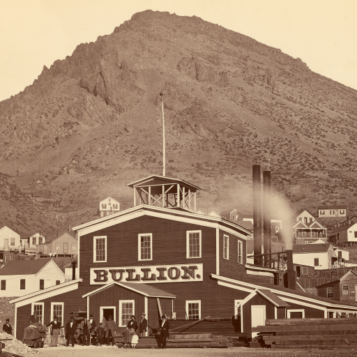 The Bullion Mine, Virginia City, Nevada by Carleton Watkins