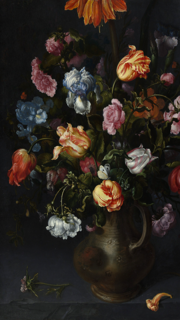A Vase with Flowers by Jacob Vosmaer