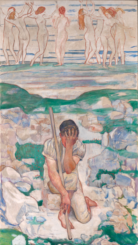The Dream of the Shepherd by Ferdinand Hodler