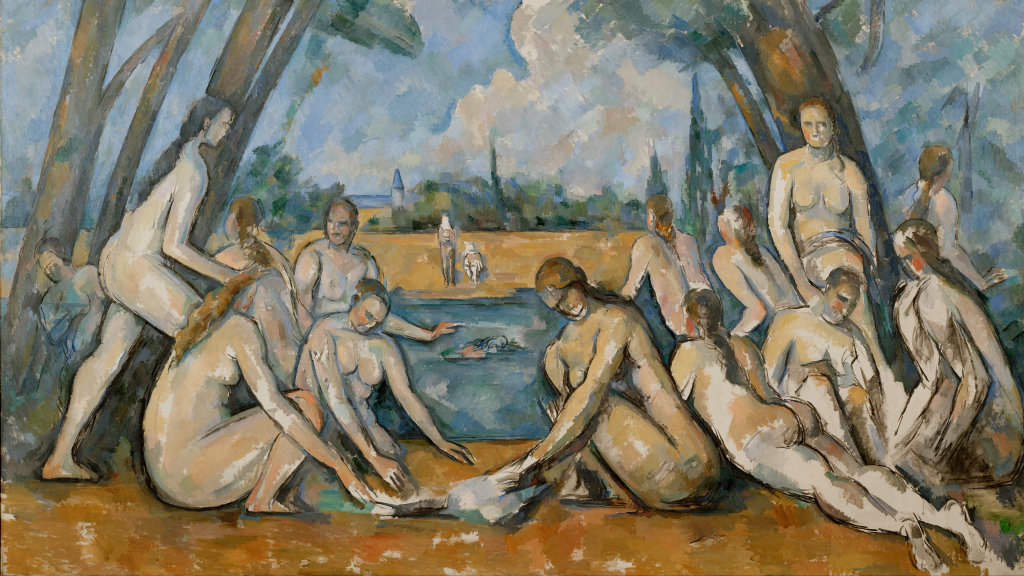 The Large Bathers by Paul Cézanne