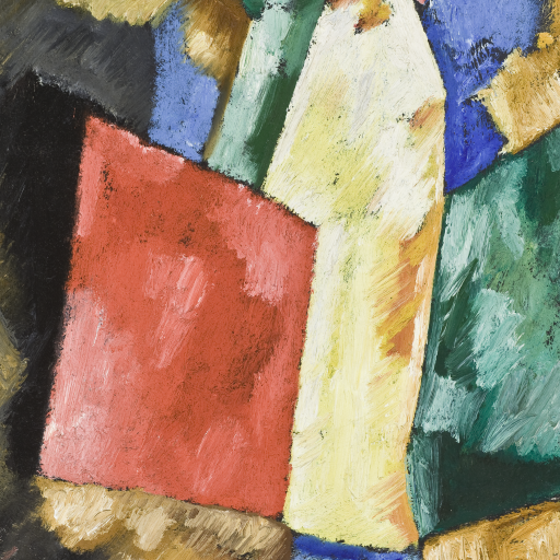 Abstraction: Blue, Yellow and Green by Marsden Hartley
