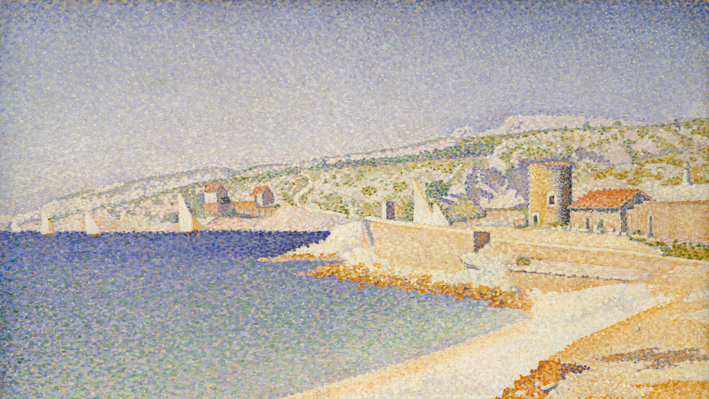 The Jetty at Cassis, Opus 198 by Paul Signac