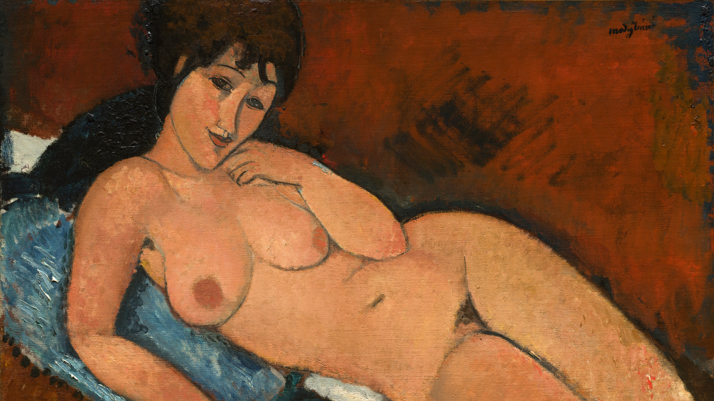 Nude on a Blue Cushion by Amedeo Modigliani