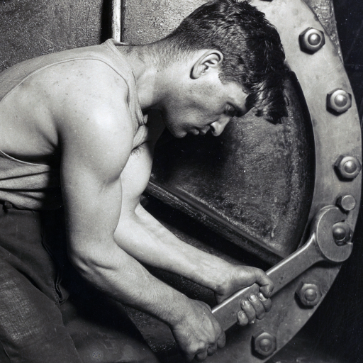 Steamfitter, or Mechanic and Steam Pump by Lewis Hine