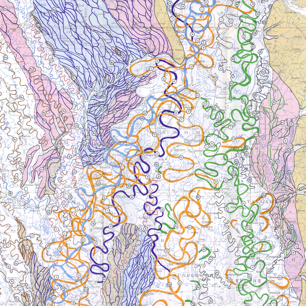 Stream Courses by U.S. Geological Survey
