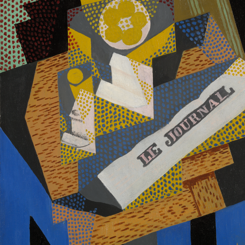 Newspaper and Fruit Dish by Juan Gris